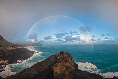 Rainbow over Halona Cove