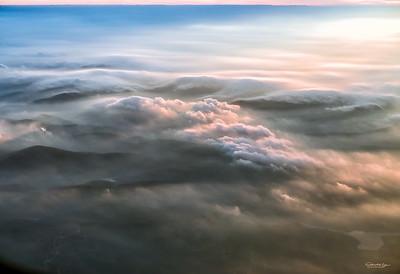 Scottish Highlands Aerial Sunrise