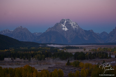 Belt of Venus Behind Mt. Moran