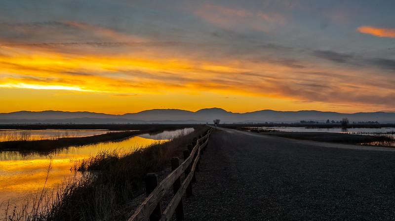 Refuge Sunset & Road