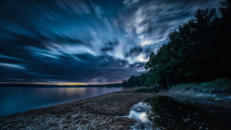 Long exposure of a Killbear sunset