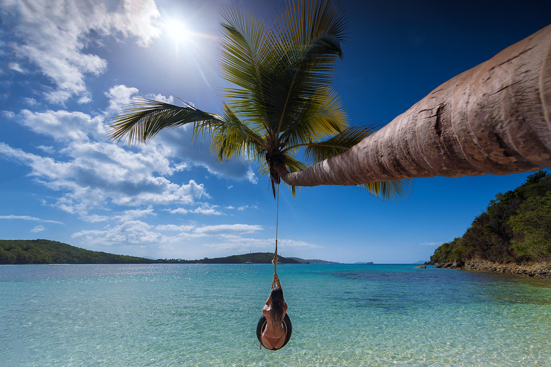 Tire Swing at Oppenheimer Beach, St John USVI