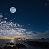 Moon Rise over St John - Shot from Sapphire Beach, St Thomas USVI