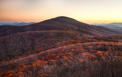 Autumn Sunset Above Grandmother Mountain