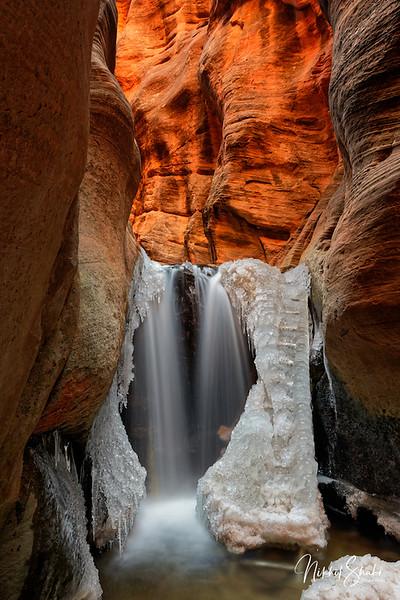 Frozen Upper Kanarra Fall, Utah
