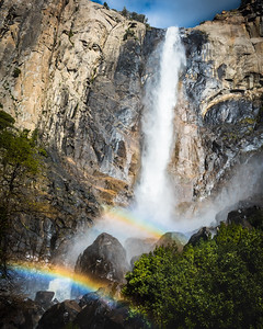 Two Rainbows, Bridalveil Fall, Yosemite
