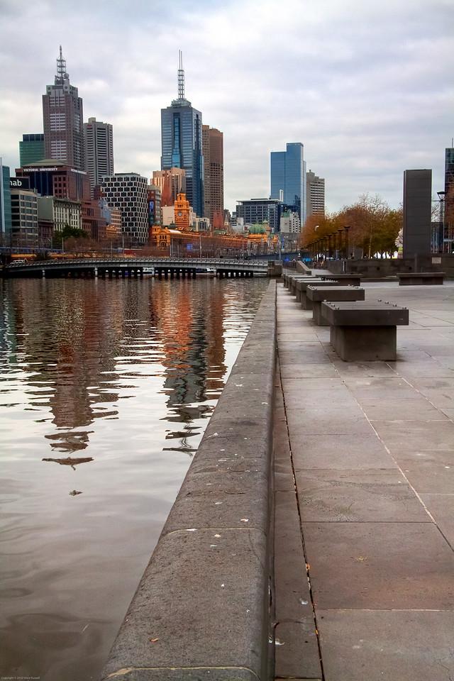 Southbank Promenade, Melbourne, Australia.
