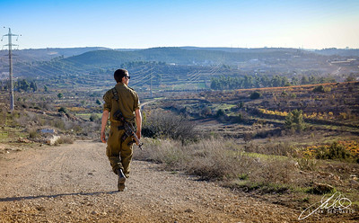IDF soldier in the Judean Hills