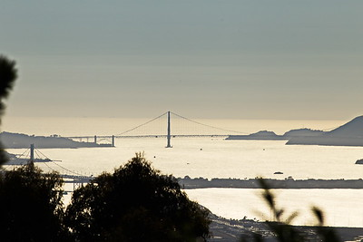 Golden Gate and new Bay Bridge