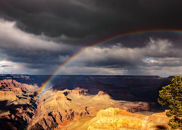 Rainbow in Grand Canyon Canyon