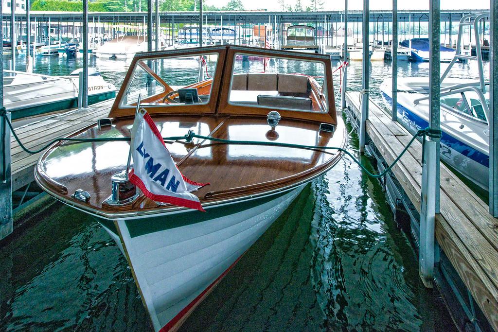A wonderful old Lyman boat on Lake Placid, NY