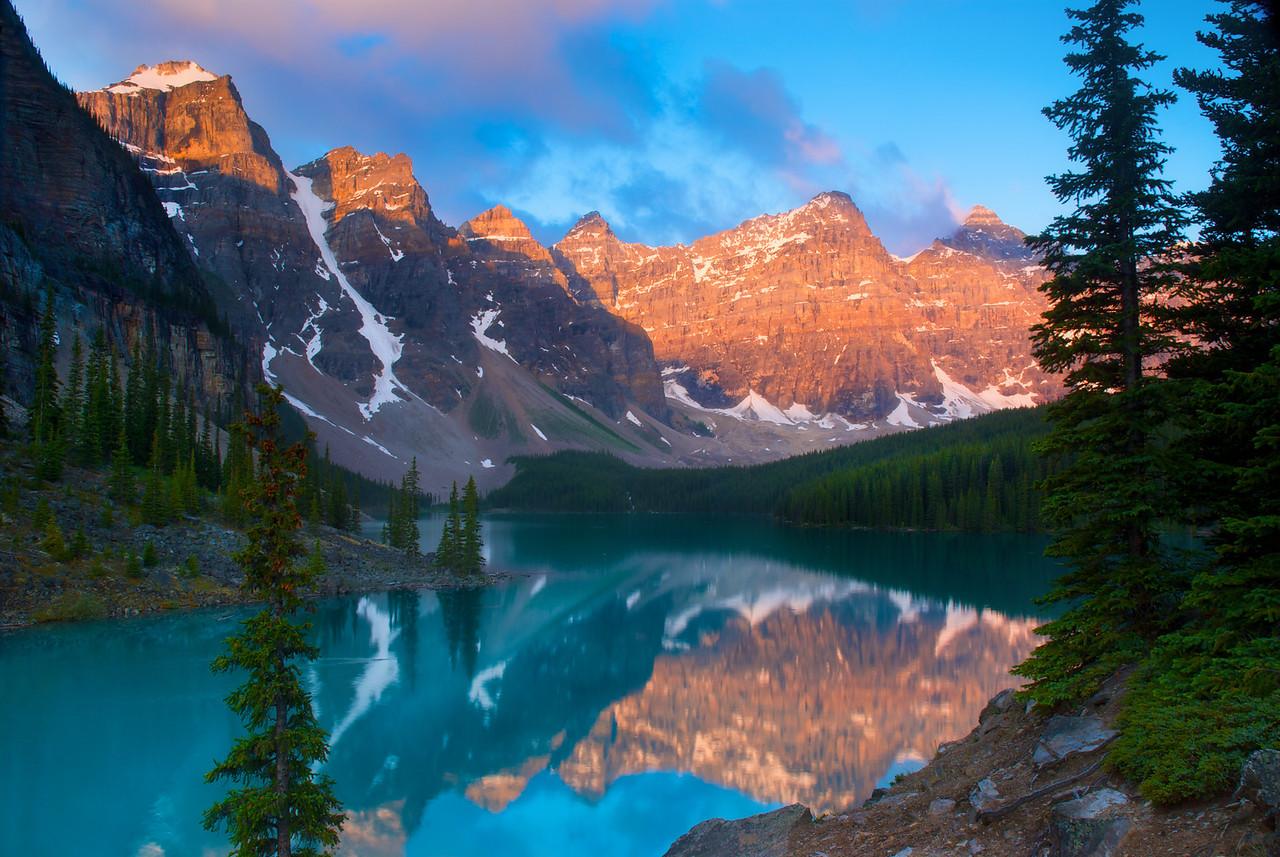 Moraine Lake Sunrise (Horz) – Banff National Park, Alberta