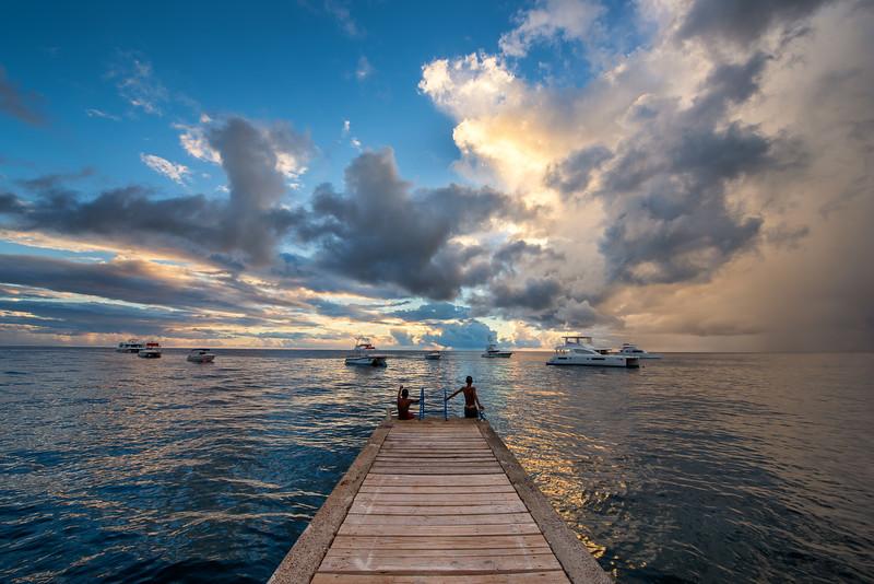 Boys on Dock - Loubiere, Dominica
