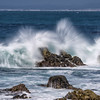 Wave Splashes in Pacific Grove, California