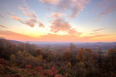 Overlooking Charlottesville, Virginia and the remnants of a beautiful fall season.