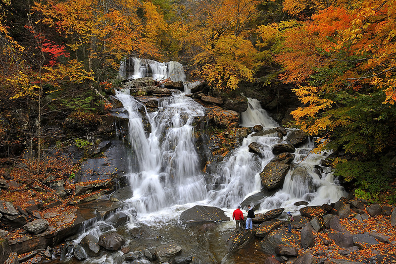 Bastion Falls in the Catskill Mountains, New York