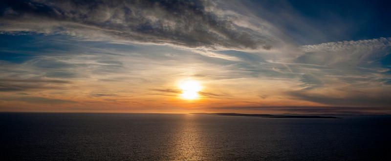 Sunset on the Aran Islands