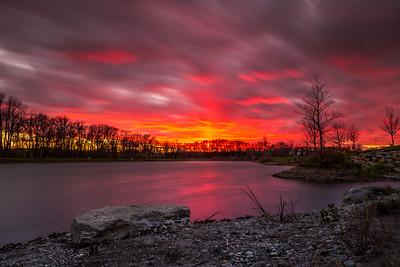 Sunset at Ariel Foundation Park, Mt. Vernon, OH