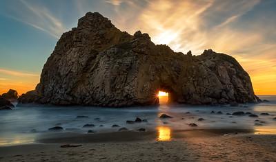 Keyhole Arch, Big Sur