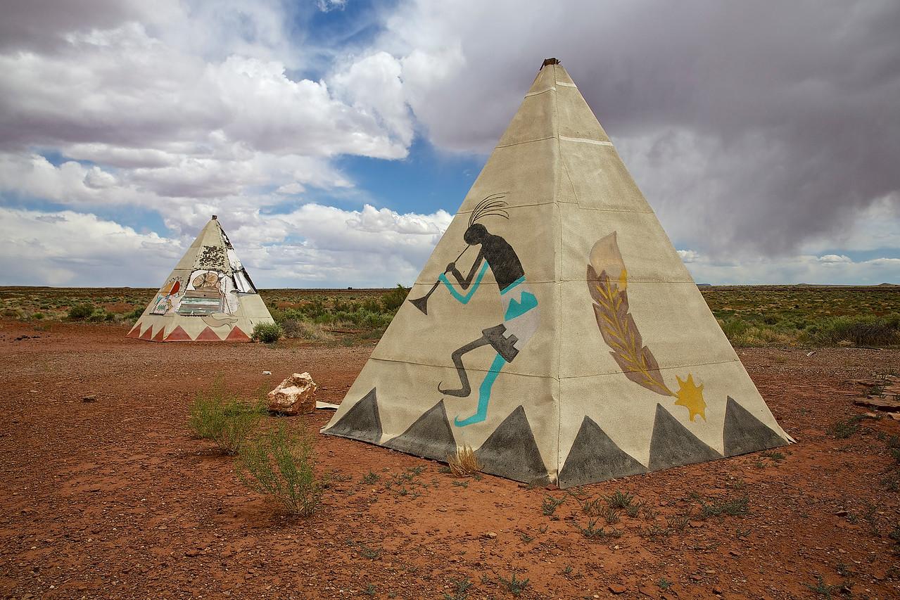 Teepees.  Near Fort Courage, Arizona