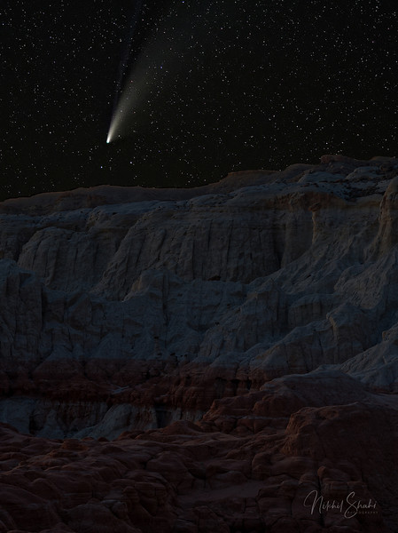 Comet NEOWISE Sets Over the Southern Utah Landscape