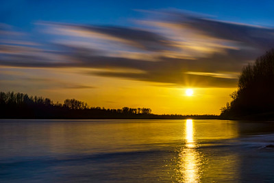 Rhine sunset...