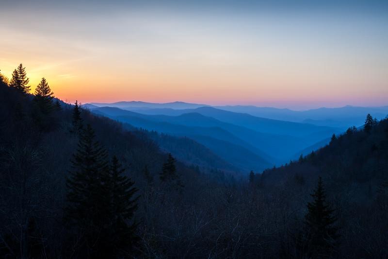 Sunrise at Luftee Gap