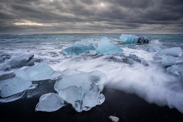 Breiðamerkursandur (Diamond Beach), Iceland