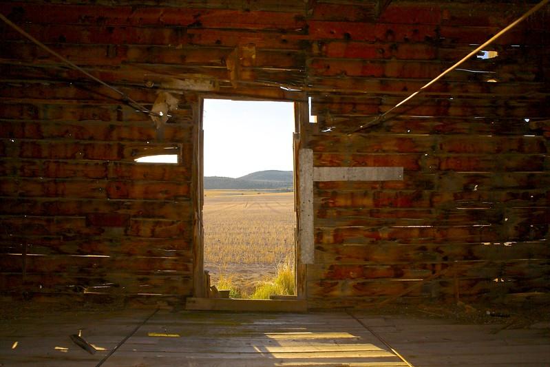 Barn Interior. Above Belgrade, Montana