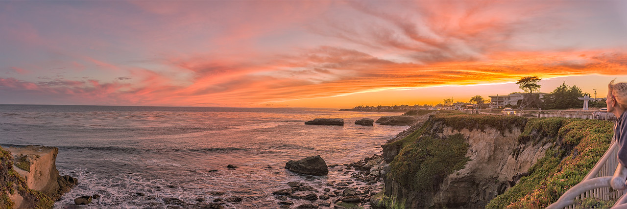 West Cliff Drive sunset panorama