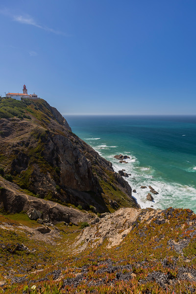 Rocky coast and Atlantic ocean in Cabo da Roca