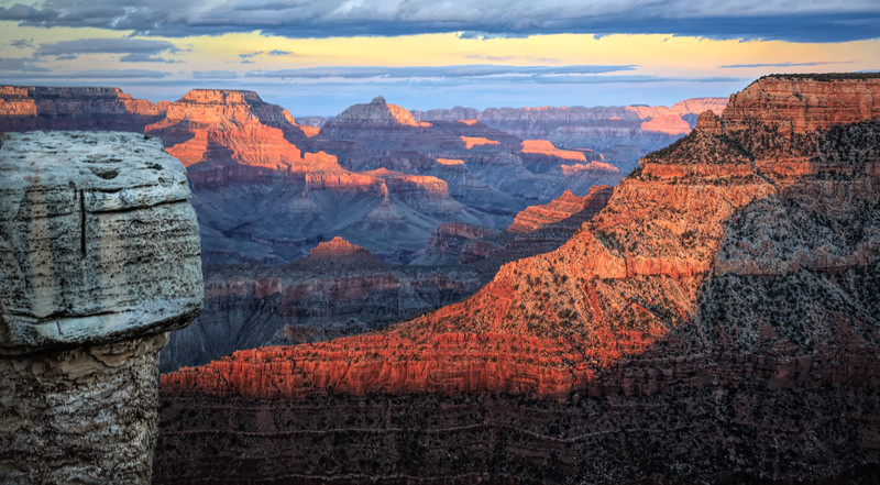 Grand Canyon - Mather's Point at Sunset