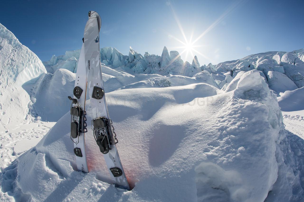 Splitboard at Matanuska Glacier<br /> <br /> Canon 5D MK III<br /> Canon EF 15mm f/2.8 Fisheye<br /> Matanuska Glacier, Alaska