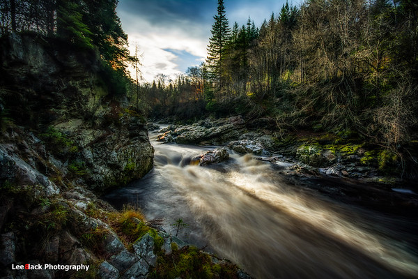 """Randolph's Leap"" at River Findhorn..."