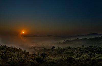 Morning Fog and Sun over Agua Caliente