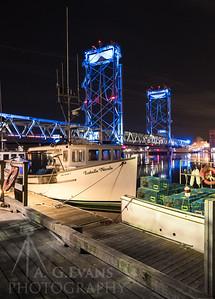 Memorial Bridge with Lobster Boats III