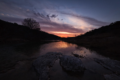 Sunset Over The Pedernales River