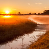 Polder awakens in autumn sun