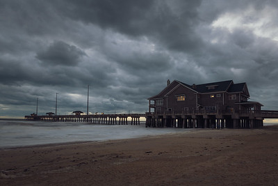 Stormy morning at Jennette's Pier