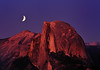 Moon Over Half Dome, Yosemite National Park, CA