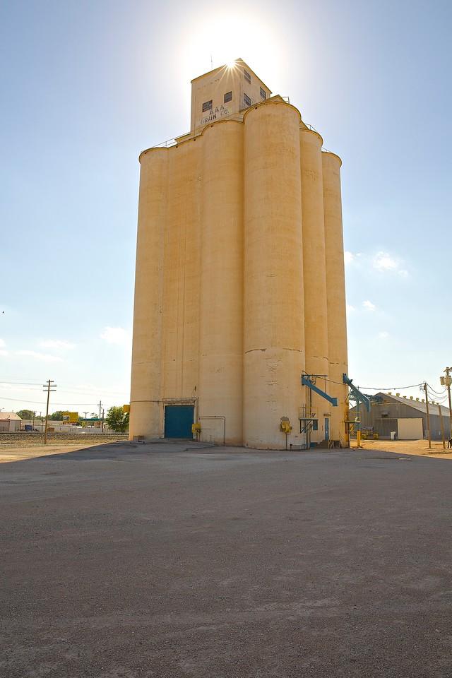 Grain Silos. Near Odessa, Texas.