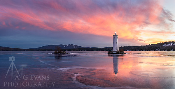 Loon Island Light at Sunset