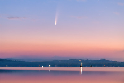 Comet NEOWISE over Lake Sunapee