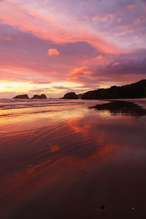 Sunset at Canon Beach, Oregon