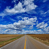 Road and Sky near Grand Isle, Nebraska