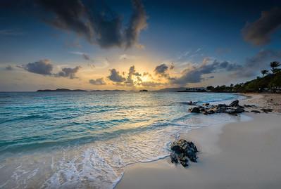 Sunrise at Sapphire Beach, St Thomas USVI