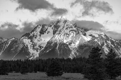 Mt Moran BW