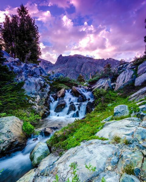 Minaret Lake Falls