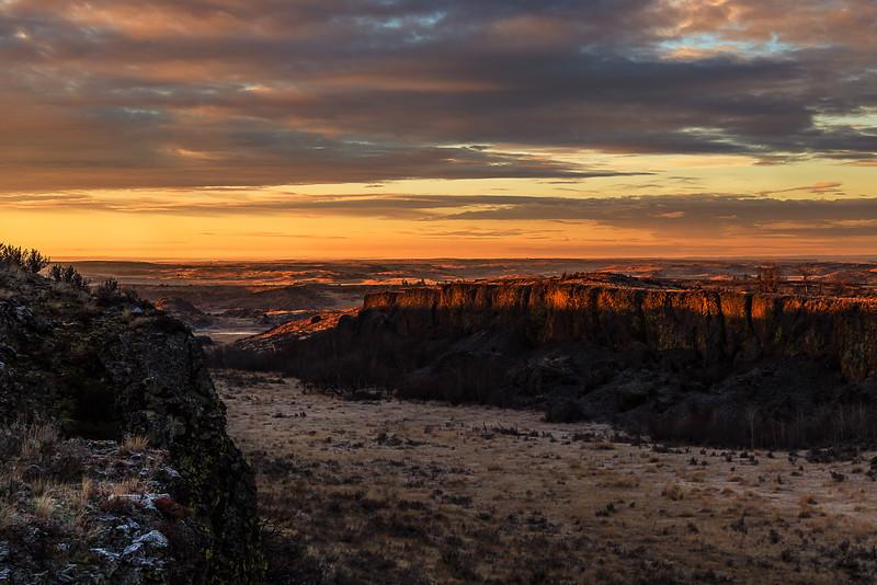 Canyon Sunrise Near Bridgeport