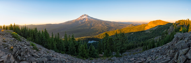 Mount Hood Sunset Panorama - Tom Dick and Harry Mountain-3